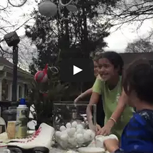 Epic Snow Ball Fight At Breakfast – #MomentMaker