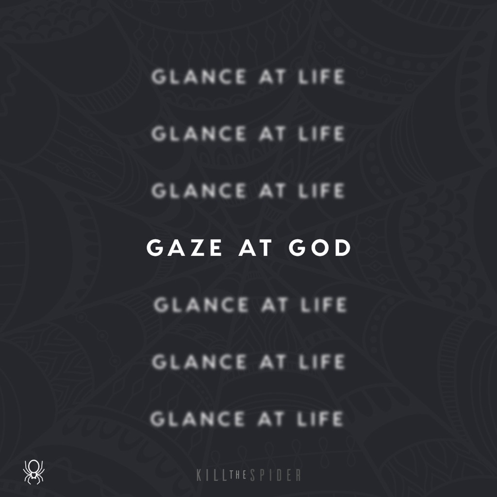 """Gaze At God… Glance At Life"" Wallpaper"
